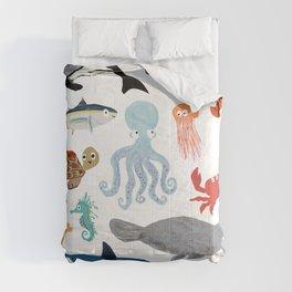 Sea Change: Ocean Animals Comforters