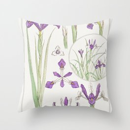 Iris from La Plante et ses Applications ornementales (1896) illustrated by Maurice Pillard Verneuil Throw Pillow