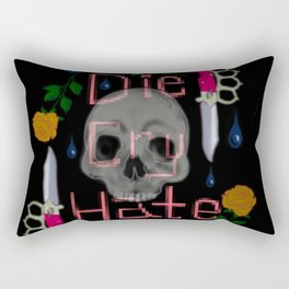 Die Cry Hate Rectangular Pillow