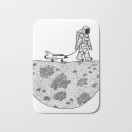 Astronaut and his toys Bath Mat
