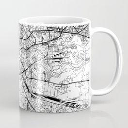 Krakow White Map Coffee Mug