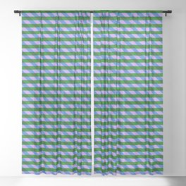 Color_Stripe_2019_002 Sheer Curtain