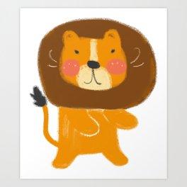 A Cute Lion Art Print