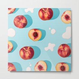 Naughty Peaches & Cream Metal Print