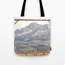 Western Mountain Ranch Tote Bag