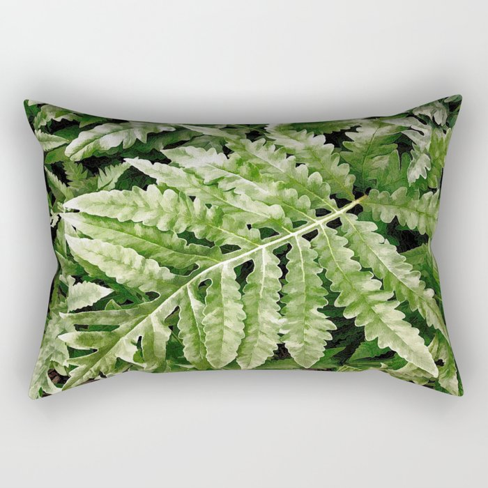 Lush Ferns Rectangular Pillow