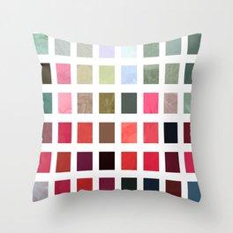 Mixed color Poinsettias 3 Abstract Rectangles 2 Throw Pillow