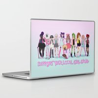 patriarchy Laptop & iPad Skins featuring Support your local girl gang by ♡ SUSHICORE ♡