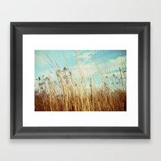 a winter field Framed Art Print