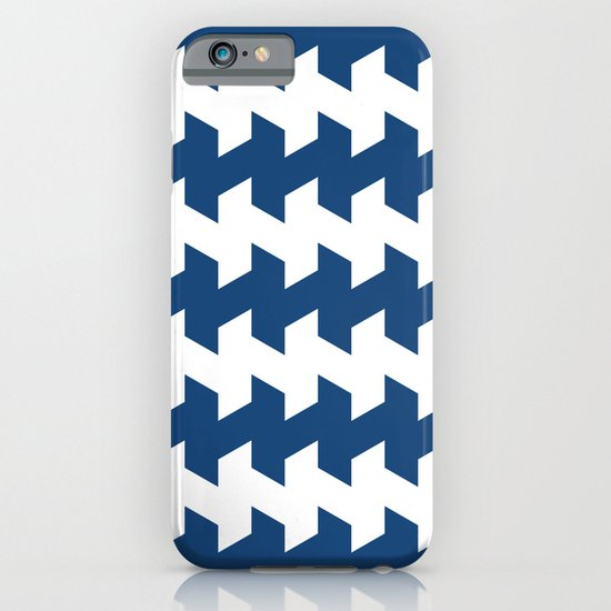 jaggered and staggered in monaco blue iPhone & iPod Case