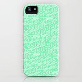 Microchip Pattern (Mint) iPhone Case
