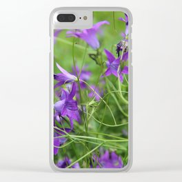 Bellflowers on meadow Clear iPhone Case