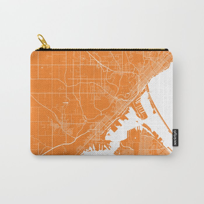 Duluth map orange Carry-All Pouch
