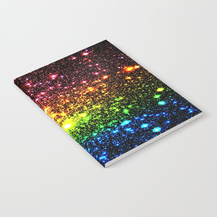 Rainbow Sparkle Galaxy Stars Notebook