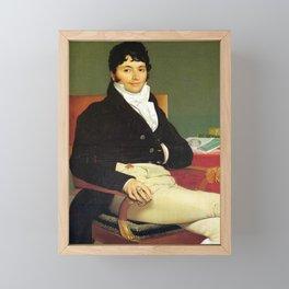 Jean-Auguste-Dominique Ingres - Portrait of Philibert Rivière Framed Mini Art Print