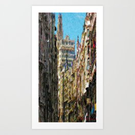 Buildings that produce choking Art Print