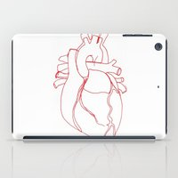 anatomical heart iPad Cases featuring Anatomical heart by Laurel Howells