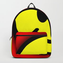 Smiley Face Skull Yellow Red Shadow Backpack