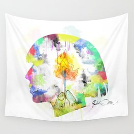 FIREMEETGASOLINE Wall Tapestry
