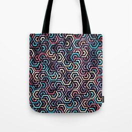Seamless Colorful Geometric Pattern XXII Tote Bag