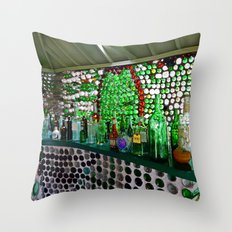 Bottle House Bar Throw Pillow