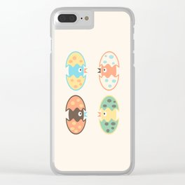 Cute hatched birds Clear iPhone Case