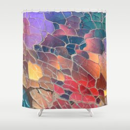 Shattered Prism Shower Curtain