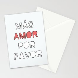 más amor Stationery Cards