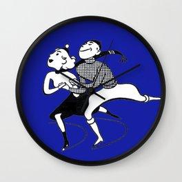Mid-Century Skater Couple Wall Clock