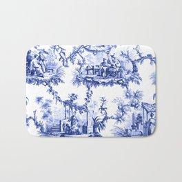 Blue Chinoiserie Toile Bath Mat