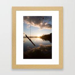 Rope Swing  Framed Art Print