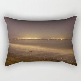 Portobello Beach at night Rectangular Pillow