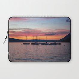 Sunset Lake Annecy Laptop Sleeve