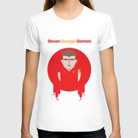 liverpool T-shirts featuring Steven Gerrard Liverpool Illustration by Gary  Ralphs Illustrations