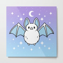 Cute Night Bat Metal Print