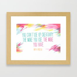 The more you have Framed Art Print