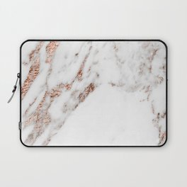 Rose gold foil marble Laptop Sleeve