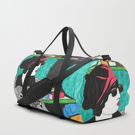 Lady in the store Duffle Bag