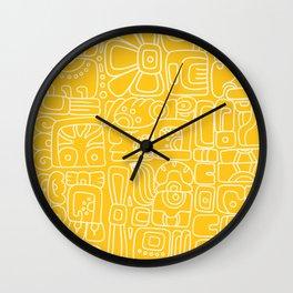 Mayan Lorem Ipsum Wall Clock