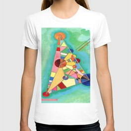 Wassily Kandinsky Multi Colored Triangle T-shirt