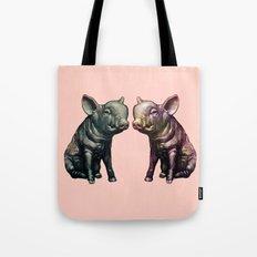 true love (pig love) Tote Bag