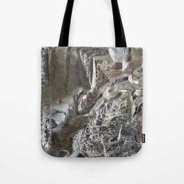 Silver Crystal First Tote Bag