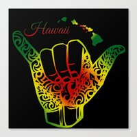hawaii Canvas Prints featuring Hawaii by Lonica Photography & Poly Designs