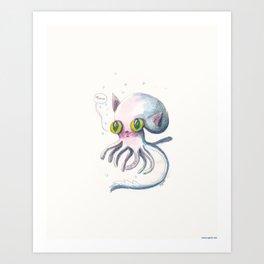 Squid Boo Art Print