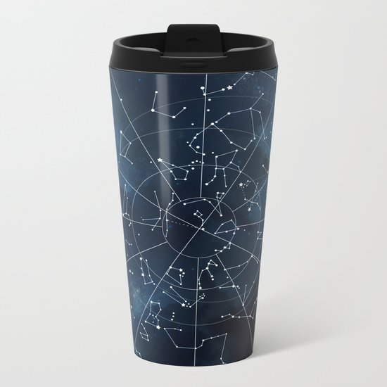 Celestial Map Metal Travel Mug