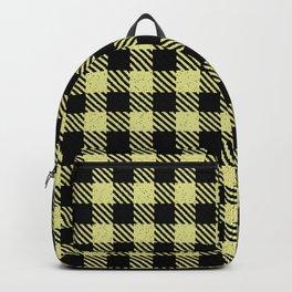 Khaki  Bison Plaid Backpack