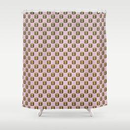 Rose quartz Elegance metal pattern Shower Curtain