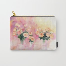 Roses Bouquet Abstract Watercolor Carry-All Pouch