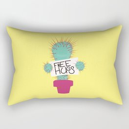cactus free hugs Rectangular Pillow