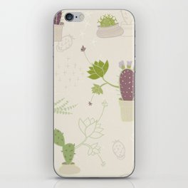 My Potted Cactus Pattern iPhone Skin